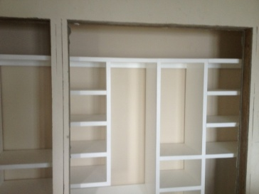 closet systems installed (no doors yet!)