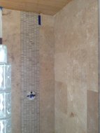 this is the almost completed shower-- still no grout