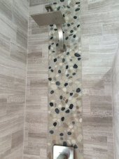 detail inside of shower